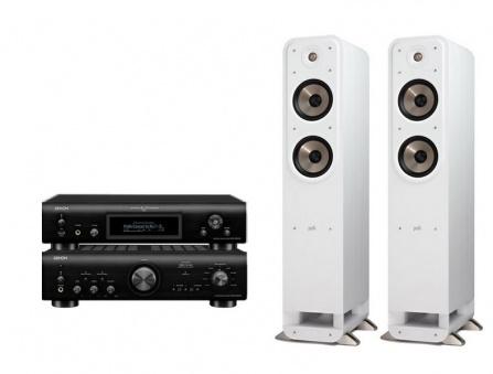 Denon PMA-800NE + Denon DNP-800NE Black + Polk Audio S55e White