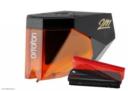 Ortofon 2M Bronze + Ortofon Carbon Fiber Record Brush Red