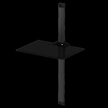 Police pro AV komponenty PL 2610 černé sklo/černá lišta