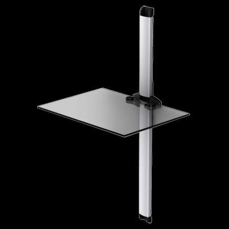 Police pro AV komponenty PL 2610 čiré sklo/stříbrná lišta