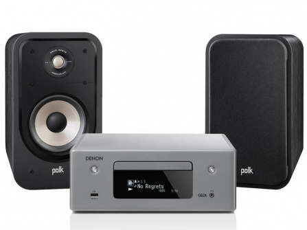 Denon RCD-N10 Gray + Polk Audio S20e Black