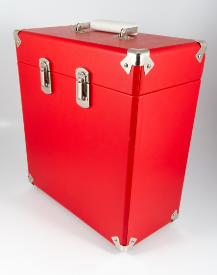 GPO Vinyl Record Case Red