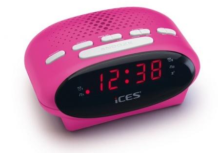 Radio-budík Ices ICR-210 růžová