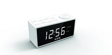 Radio-budík Ices ICR-240 bílá