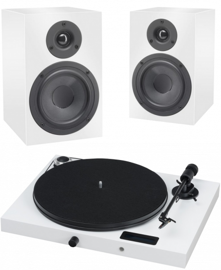 Pro-Ject Juke Box E + Speaker Box 5 white