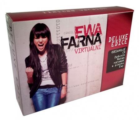 Ewa Farna - Virtuální CD+zpěvník,notes,náramek,placka