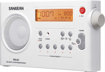 Radio Sangean Package PR-D7 bílá