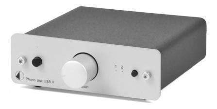 Předzesilovač Phono Box USB V - stříbrný