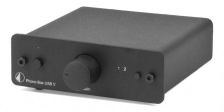 Předzesilovač Phono Box USB V - černý
