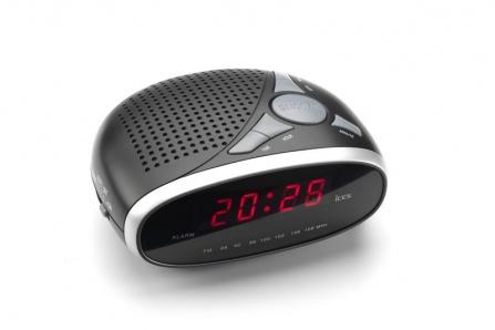 Radio-budík Ices ICR-200 stříbrná