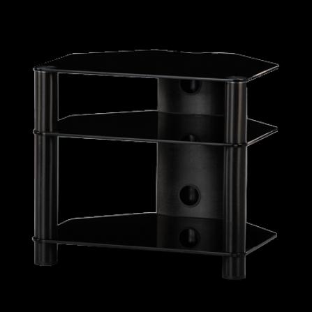 Stolek pro Hi-Fi komponenty RX 2130 černé sklo / černé nohy