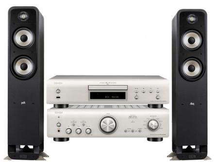 Denon PMA-800NE+Denon DCD-800NE + Polk Audio S55e Silver