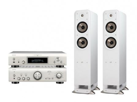 Denon PMA-800NE + Denon DNP-800NE Silver + Polk Audio S55e White
