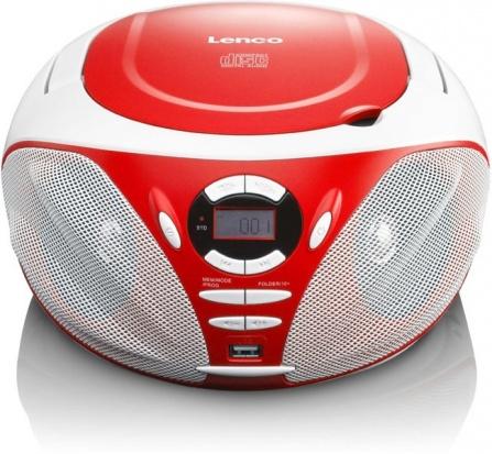 Přehrávač CD/MP3 Lenco SCD-39 USB červená