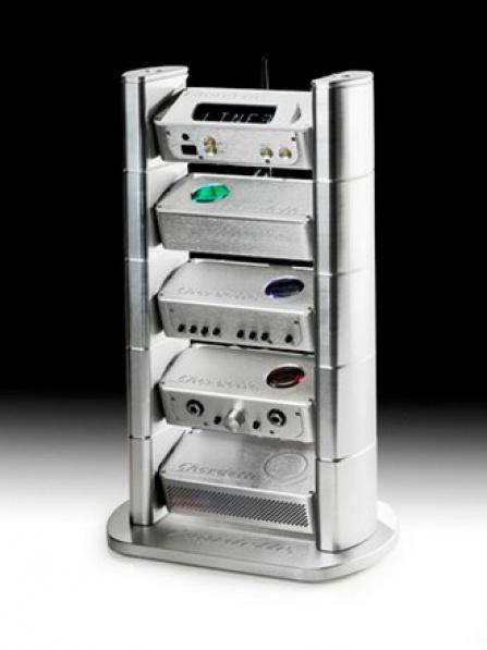 Chord Electronics Chordette Rack, 4 moduly - stříbrná