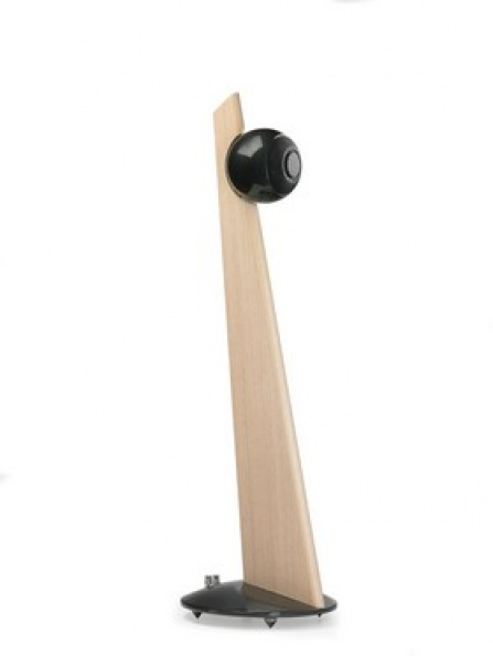 Cabasse IO2 on Stand Oak Glossy Black