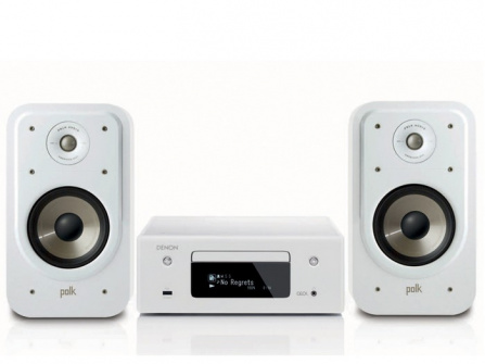 Denon RCD-N10 White + Polk Audio S20e White