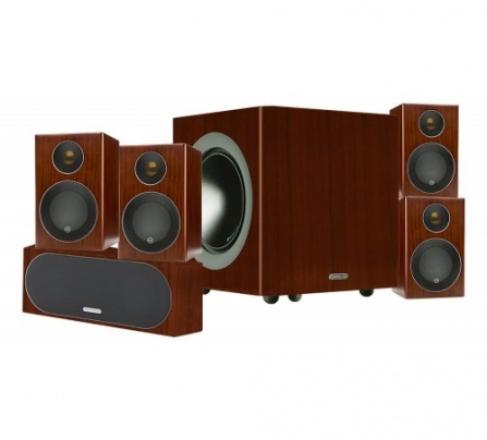 Monitor Audio Radius R90HT1 - Walnut Real Wood Veneer