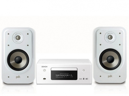 Denon RCD-N11 DAB White + Polk Audio S20e White