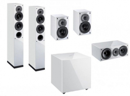 Indiana Line Tesi High Gloss Home Cinema Set 5.1 - White