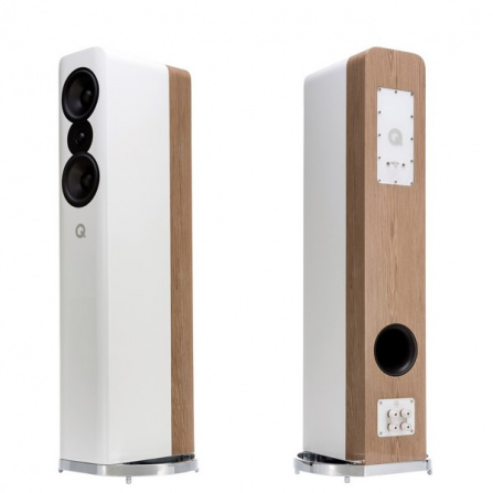 Q Acoustics Concept 500 White a Light Oak