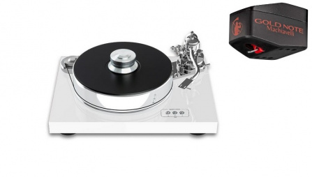 Pro-Ject Signature 10 White + Gold Note Machiavelli Red