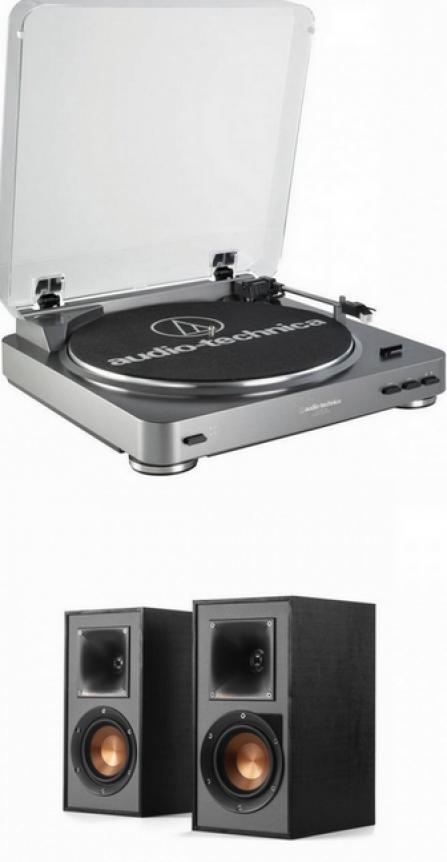 Audio-Technica AT-LP60USB + Klipsch R-41PM